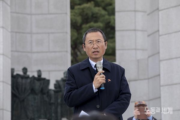 혁명 59주년 4.19 민족민주합동 참배식