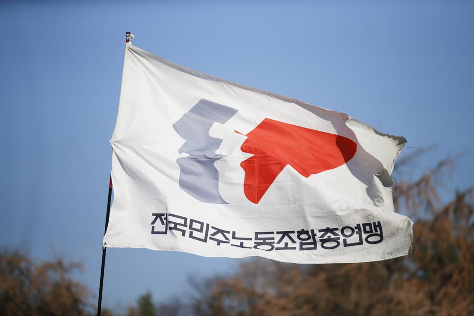 민주노총, 국회 인근 확대간부 '집중투쟁'
